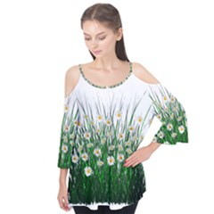 Spring Flowers Grass Meadow Plant Flutter Tees