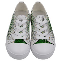 Spring Flowers Grass Meadow Plant Kids  Low Top Canvas Sneakers