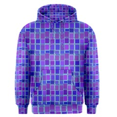 Background Mosaic Purple Blue Men s Pullover Hoodie