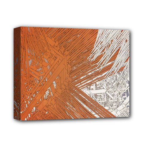Abstract Lines Background Mess Deluxe Canvas 14  X 11