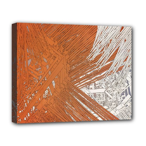 Abstract Lines Background Mess Deluxe Canvas 20  X 16