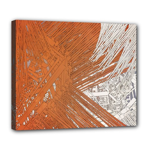 Abstract Lines Background Mess Deluxe Canvas 24  X 20