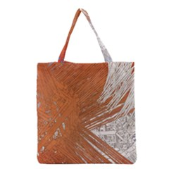 Abstract Lines Background Mess Grocery Tote Bag