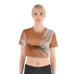 Abstract Lines Background Mess Cotton Crop Top