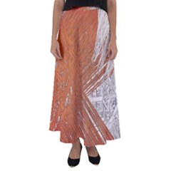 Abstract Lines Background Mess Flared Maxi Skirt