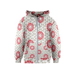 Stamping Pattern Fashion Background Kids  Zipper Hoodie