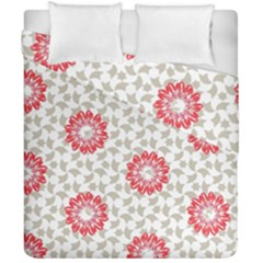 Stamping Pattern Fashion Background Duvet Cover Double Side (california King Size)