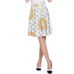 Stamping Pattern Fashion Background A Line Skirt