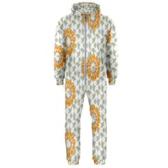Stamping Pattern Fashion Background Hooded Jumpsuit (men)