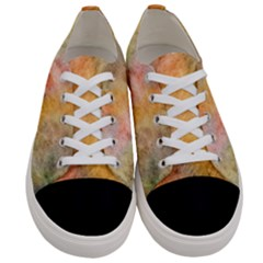 Texture Pattern Background Marbled Women s Low Top Canvas Sneakers