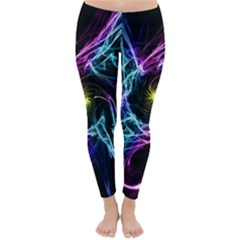 Abstract Art Color Design Lines Classic Winter Leggings