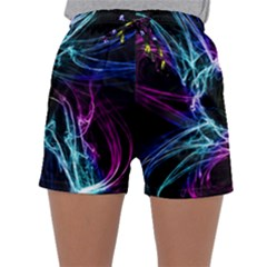 Abstract Art Color Design Lines Sleepwear Shorts