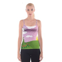 Pine Trees Sunrise Sunset Spaghetti Strap Top