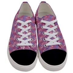 Pattern Abstract Squiggles Gliftex Women s Low Top Canvas Sneakers