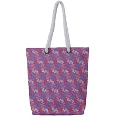 Pattern Abstract Squiggles Gliftex Full Print Rope Handle Tote (small)
