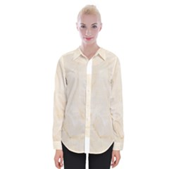 Rock Tile Marble Structure Womens Long Sleeve Shirt