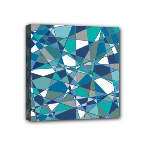 Abstract Background Blue Teal Mini Canvas 4  X 4