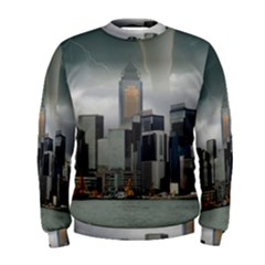 Tornado Storm Lightning Skyline Men s Sweatshirt