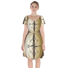 Compass North South East Wes Short Sleeve Bardot Dress