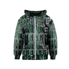 Printed Circuit Board Circuits Kids  Zipper Hoodie
