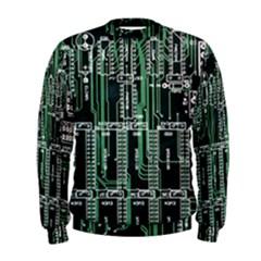 Printed Circuit Board Circuits Men s Sweatshirt