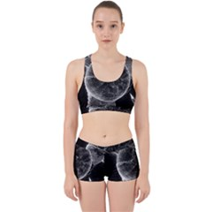 Space Universe Earth Rocket Work It Out Sports Bra Set