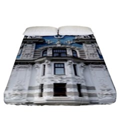 Squad Latvia Architecture Fitted Sheet (king Size)