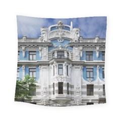 Squad Latvia Architecture Square Tapestry (small)