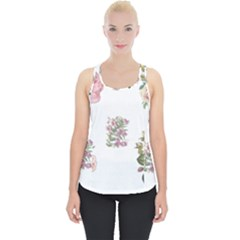 Rose Flowers Campanula Bellflower Piece Up Tank Top
