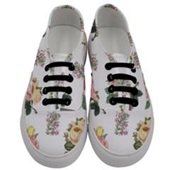 Rose Flowers Campanula Bellflower Men s Classic Low Top Sneakers