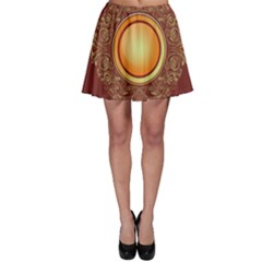 Badge Gilding Sun Red Oriental Skater Skirt