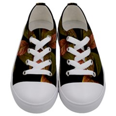 Autumn Leaves Foliage Kids  Low Top Canvas Sneakers
