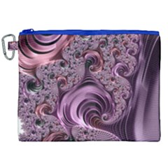 Abstract Art Fractal Canvas Cosmetic Bag (xxl)