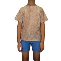 Rock Tile Marble Structure Kids  Short Sleeve Swimwear