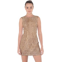 Rock Tile Marble Structure Lace Up Front Bodycon Dress