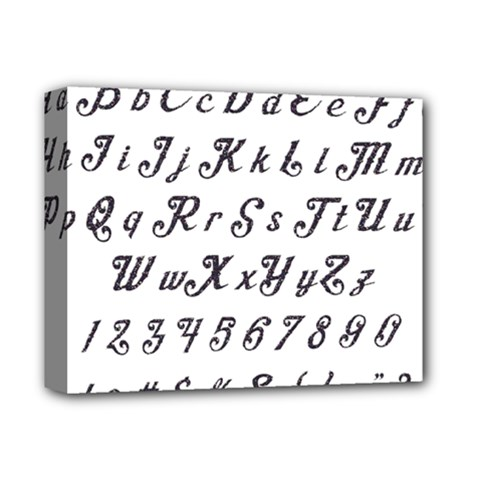 Font Lettering Alphabet Writing Deluxe Canvas 14  X 11