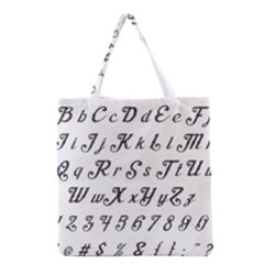 Font Lettering Alphabet Writing Grocery Tote Bag