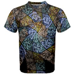 Multi Color Tile Twirl Octagon Men s Cotton Tee