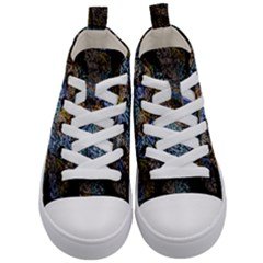 Multi Color Tile Twirl Octagon Kid s Mid Top Canvas Sneakers