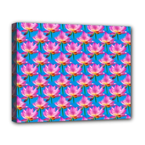 Seamless Flower Pattern Colorful Deluxe Canvas 20  X 16