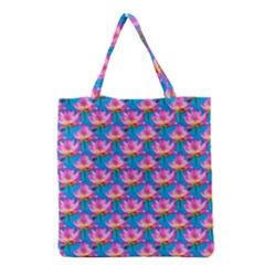 Seamless Flower Pattern Colorful Grocery Tote Bag