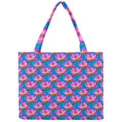 Seamless Flower Pattern Colorful Mini Tote Bag