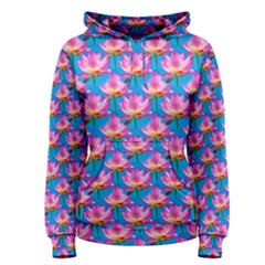 Seamless Flower Pattern Colorful Women s Pullover Hoodie