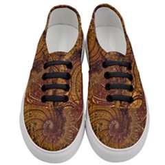 Copper Caramel Swirls Abstract Art Women s Classic Low Top Sneakers