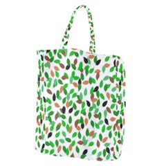 Leaves True Leaves Autumn Green Giant Grocery Zipper Tote