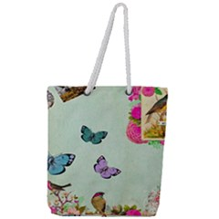 Collage Full Print Rope Handle Tote (large)