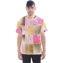 Collage Gold And Pink Men s Sports Mesh Tee