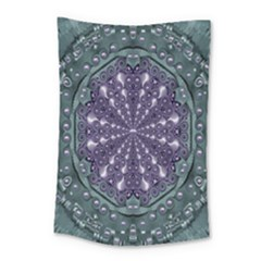 Star And Flower Mandala In Wonderful Colors Small Tapestry