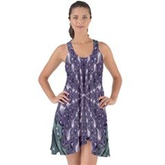 Star And Flower Mandala In Wonderful Colors Show Some Back Chiffon Dress