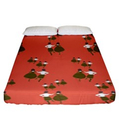 Dance Fitted Sheet (king Size)